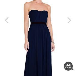 BCBG MaxAzria Amber Strapless Evening Gown Navy, 0